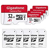 Gigastone 32GB 5-Pack Micro SD Card, Camera Plus, Nintendo Switch Compatible, High Speed 90MB/s, Full HD Video Recording, Micro SDHC UHS-I A1 Class 10
