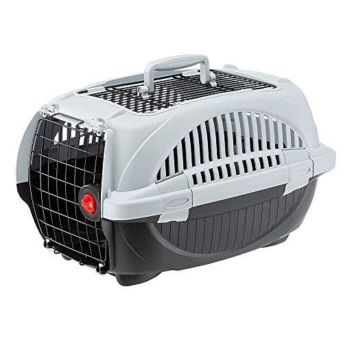 Amazon Basics - Trasportino per cani e gatti di prima qualità con doppia apertura, 51 cm