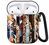 Fairy Tail AirPods Case Personalize Custom, AirPods Case Cover Compatible with Apple AirPods 1st/2nd,Full Protective Durable Shockproof Drop Proof with Key Chain Compatible