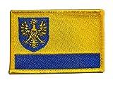 Flaggenfritze Flaggen Aufnäher Polen Woiwodschaft Oppeln Fahne Patch + gratis Aufkleber