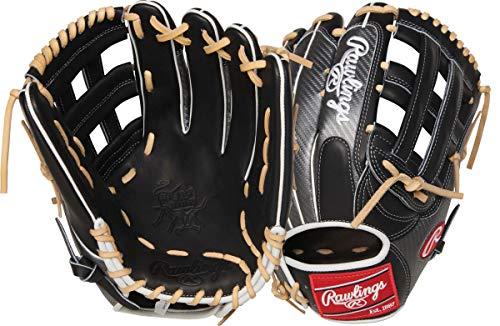 Rawlings Heart of The Hide Hyper Shell Baseball Glove, Black/Silver/Camel, 12.75 inch, Pro H Web, Left Hand Throw, PRO3039-6BCF-RH