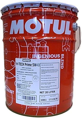 MOTUL(モチュール)H-TECH PRIME(H-テックプライム) 5W40 エンジンオイル 100%化学合成 20L [正規品]11192550