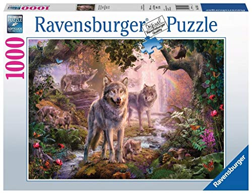 Ravensburger- Lupi d'Estate Puzzle da Adulti, Multicolore, 1000 Pezzi, 15185