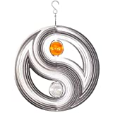 MIC Stainless steel wind spinner - YINYANG 300 - Dimension: Ø30cm, balls: 2xØ5cm