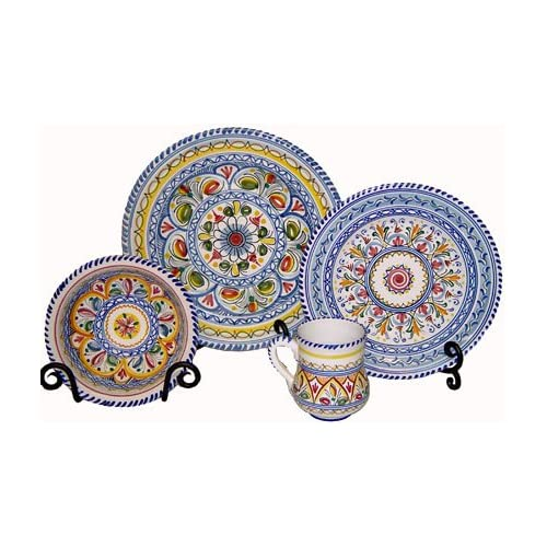 20d56e94e463 Amazon.com  Hand-Painted Ceramic Plates from Spain. Multicolor Pattern   Kitchen   Dining