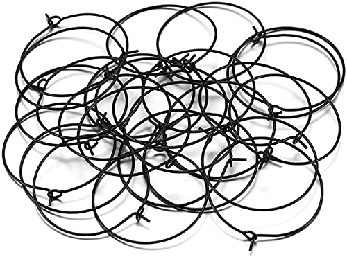 LiuliuBull 50 unids/Lote Gold Hoops Pendientes Big Circle Ear Wire Hoops Pendientes Alambres para la Joyería Fabricación de Suministros (Color : Rose Gold, Size : 30mm)