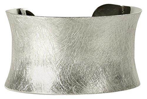 SILBERMOOS Außergewöhnlicher Damen Armreif Armspange offen gebürstet massiv 925 Sterling Silber