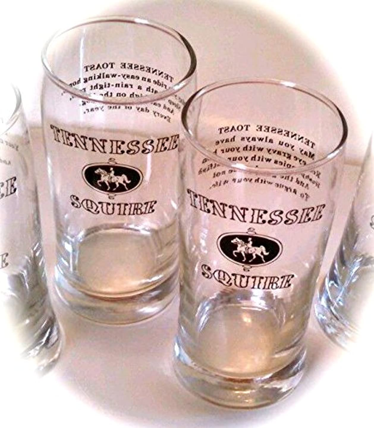Set of 2 Vintage Jack Daniels Tennessee Squire Highball Tennessee Toast Glasses