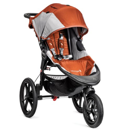 Baby Jogger Summit X3 Single Stroller, Orange/Gray