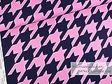 Mamasliebchen Jersey-Stoff BATkick #darkblue-Rose (0,5 m)