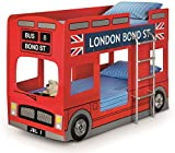Julian Bowen London Bunk Bed, Red, Single