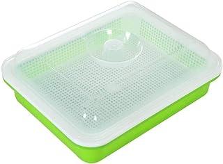 da cucina giardino in plastica senza bisfenolo A casa e ufficio vassoio per germinazione a due livelli Vassoio per germogliatori con coperchio per piantine