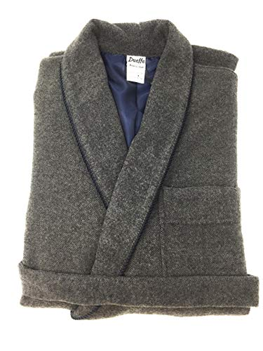 DUEFFE S.N.C. Bata para hombre en lana art. Versace - Gris XXL