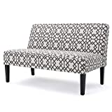 Dejon Modern Geometric Fabric Loveseat