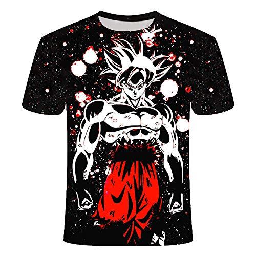 ZIXIYAWEI 3D Camisetas para Hombre,Patrón De Niño De Dibujos Animados De Dragon Z Camiseta Unisex Impresa En 3D Camiseta De Manga Corta Informal Personalizada De Verano Tops-XXL