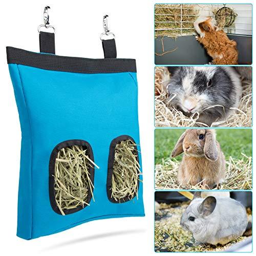 Geegoods Rabbit Hay Feeder Bag, Guinea Pig Hay Feeder Storage ,Hanging Feeding Hay for Small Animals 600 D Oxford Cloth Fabric