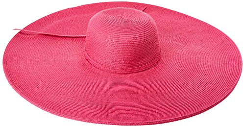 San Diego Hat Company Women's Ultrabraid Extra Large Brim Floppy Hat with SPF Protection, hot Pink, One Size