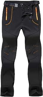 BIYLACLESEN Men's Hiking Pants with Zipper Pockets Outdoor Lightweight Breathable Work Pants