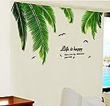 Pegatina Vinilo palmeras terrazas, apartamentos, hoteles, loft, cocinas, baños, boutiques, restaurantes, pub, salas fiestas, habitaciones pared/cristal 1.20 X 60 cm de CHIPYHOME