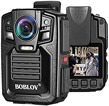 BOBLOV HD66 Body Worn Camera IP67 Waterproof 1296P Wearable Camera Audio & Video Recorder 170° Wide Angle IR Night Vision with 360° Rotation Clip  64GB