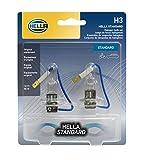 HELLA H3TB Twin Blister Standard Halogen Bulb, 12 V, 55W, 2 Pack