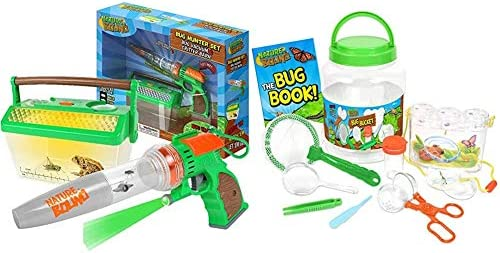 Nature Bound Bug Catcher Vacuum with Light Up Critter Habitat Case for Backyard Exploration - Complete Kit for Kids Includes Vacuum and Cage