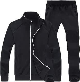 Men's Casual Tracksuit Long Sleeve Full Zip Running Jogging Athletic Sports Set