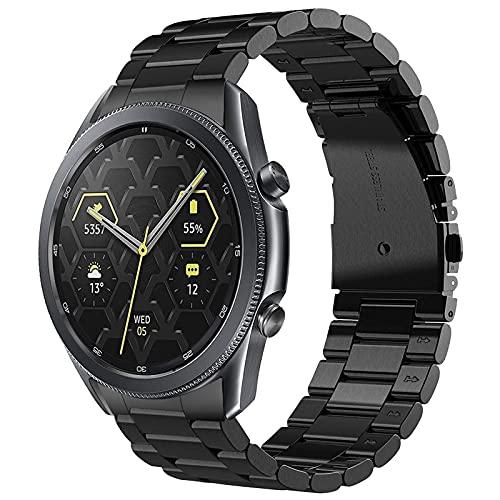 TRUMiRR No Gap Cinturino Compatibile con Galaxy Watch 3 45mm Uomini, Cinturino in Metallo in Acciaio Inossidabile Braccialetto a sgancio rapido a Mano con Cinturino per Samsung Galaxy Watch3 45mm