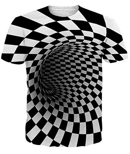 Fanient Herren Damen Aufdruck T-Shirt Rundhals Tee S M L XL XXL, Vortex2, L