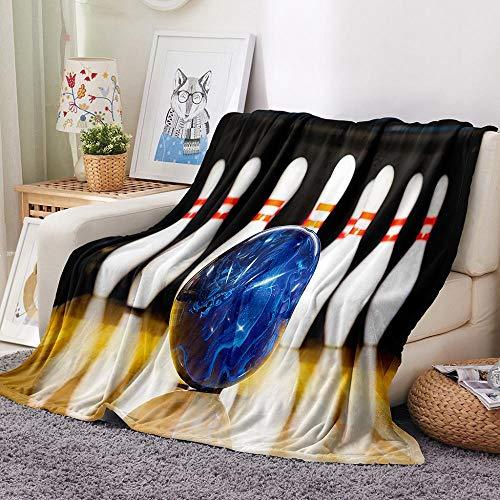SHHSGZ Bowling Decke Kinder Decke sofadecke plüsch Decke Flauschige kuscheldecke bettüberwurf für Sofa und Couch bettwäsche Wolldecke-80x100cm