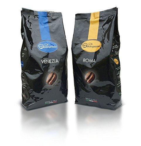 Caffè in grani Venezia e Roma Miscela Bar Alta Qualità!! 2kg