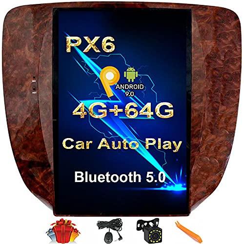 CUSP 12.1 Inch Car Stereo Radio GPS Navigation for Chevrolet Tahoe Silverado Suburban Avalanche GMC Yukon Sierra Buick 2007-2016 IPS Screen Kit Android PX6 4G+64G Multimedia Player in Dash Kit Audio