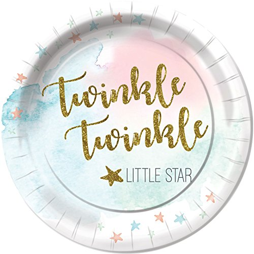 When You Wish Upon a Star Baby Shower Dinner Plates Party Tableware Supplies Decorations