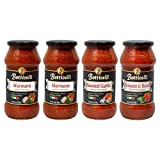 Botticelli Pasta Sauce (Pack of 4) - Tomato Sauce & Basil, Roasted Garlic and Marinara Sauce Premium...