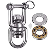 Besthouse Swing Swivel with 2 Bearing, 360° Rotation, 770LB Capacity, Safest Rotational Device Hanging Accessory for Web Tree Swing, Aerial Dance, Children's Swing, Yoga Swing Sets