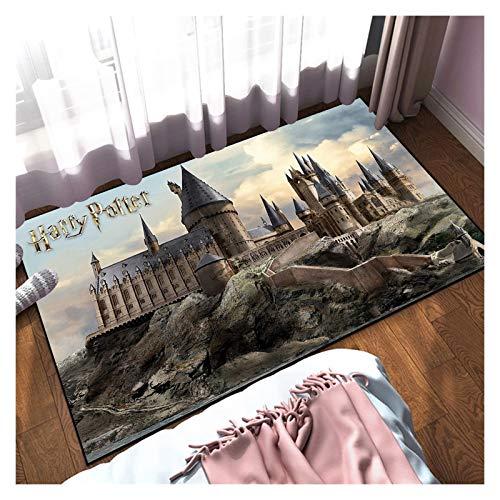 JRZDFXS Harry Potter Alfombra para Accesorios de Dormitorio Decoración de la habitación de los niños, Antideslizante Decoración para el hogar Alfombras Lavable Topero de Plomo Estera Play Mat