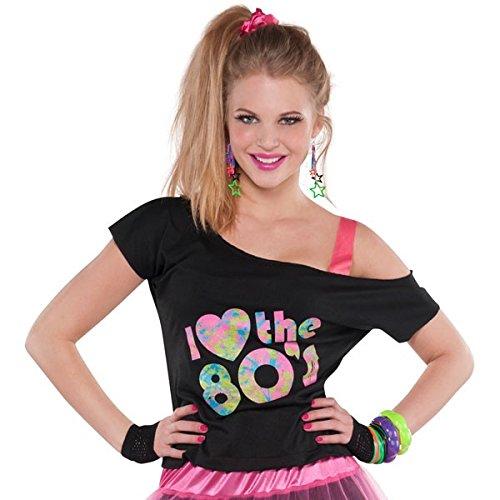 Amscan International Volwassenen Standaard Ik hou van de jaren 80 T-Shirt