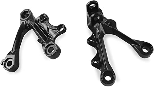 new arrival Mallofusa 2021 Aluminum Motorcycle Front Foot Pegs sale Footrests Compatible for Kawasaki Ninja ZX6R 2009 2010 2011 Black sale