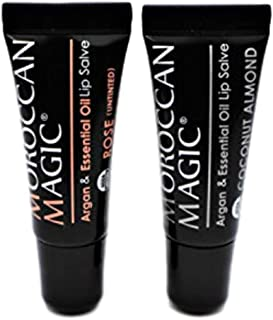 Moroccan Magic Organic Lip Salve Pack | Made with Natural Cold Pressed Argan and Essential Oils Lip Care | Smooth Applicat...