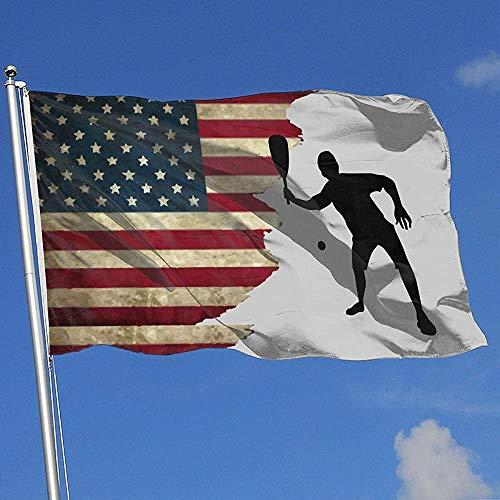 Elaine-Shop Vlag buiten Vlag USA Racquetball 4 x 6 Ft Vlag voor binnendecoratie Sport Fan Voetbal Basketball Honkbal Hockey