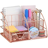 EZ-Tool File Tray and 4 Upright Sections Desk Organizer with Drawer