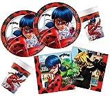 Procos 10133993 Miraculous - Kit de Fiesta de cumpleaños para niños con diseño de Lady Bug, Color Negro