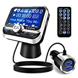 Clydek Trasmettitore FM per Auto, Wireless Bluetooth 5.0...