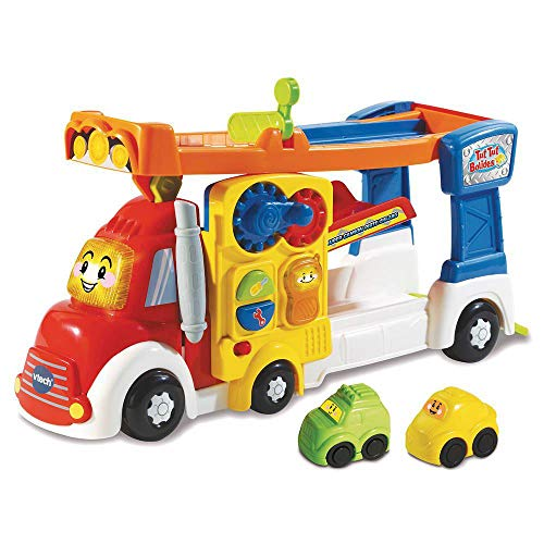 VTech - Tut Tut Bolides - Super camion piste zig-zag - Piste de course + 2 mini voitures – Version FR