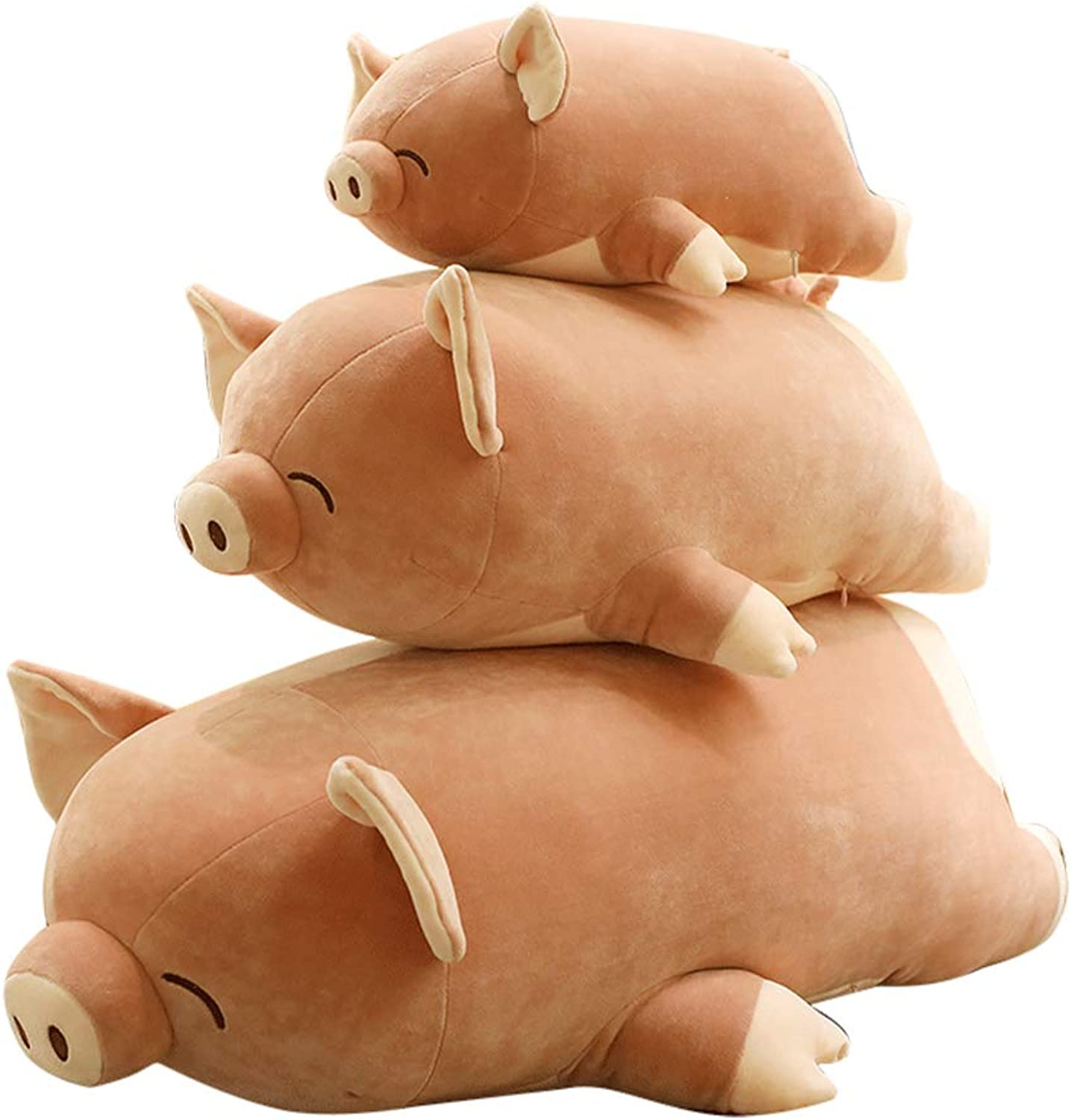Futurecos Pig Plush Doll Toy Pink Girls Girlfriend Gift 3D Animal Stuffed Piggy with Heart Butt Decorative Throw Pillows Home Accents 80CM
