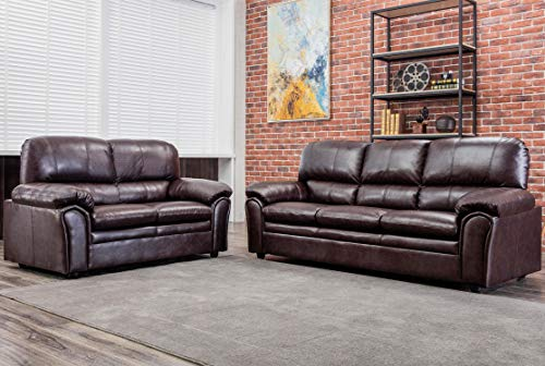 Sofa Set Sectional Sofa for Living Room Couch and Sofas PU Leather Loveseat Sofa Contemporary Modern Sofa for Home Furniture 3 Seat Futon