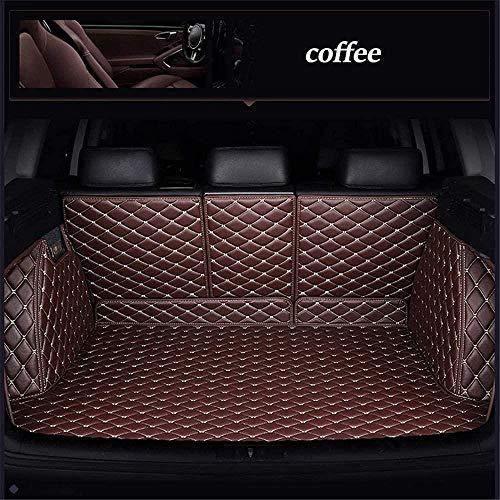 0beilita Kofferraummatte Kofferraumschutz für Jeep Compass Wrangler Patriot Cherokee Grand Cherokee Renegade Kofferraum Schutzmatte Ladekantenschutz Autozubehör, Kaffee