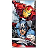 Marvel Avengers Endgame Capitán América y Iron Man Toalla de Playa Algodón 70x140 cm