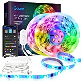 Govee 32.8FT LED Strip Lights RGBIC, WiFi Wireless Smart Phone Controlled LED Light Strip 5050 LED Lights Sync to Music, Work with Alexa, Google Assistant, Android iOS (Not Support 5G WiFi), 2x16.4ft
