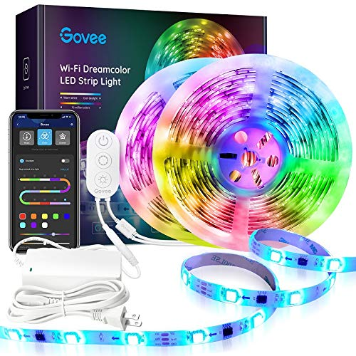 Govee 2 Rolls of 16.4FT LED Strip Lights RGBIC, WiFi Wireless Smart Phone Controlled LED Light Strip...